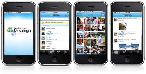 Microsoft anuncia novo Live Messenger e seu App para iPhone